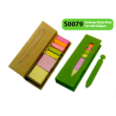 Desktop Sticky Note Set with Ballpen