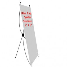 Bunting with spider standee (blue cap)