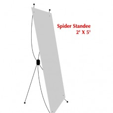 Bunting with spider standee